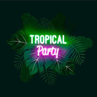 Letras de neón tropical
