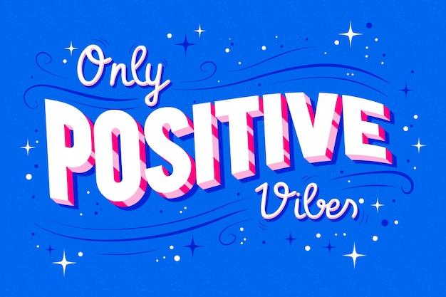 Letras optimistas en estilo vintage.