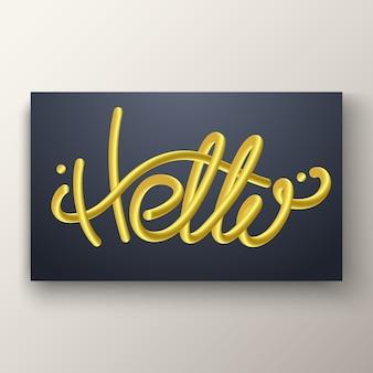 Letras de oro brillante mezclado