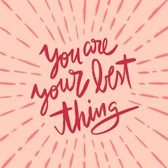 Letras positivas con cita motivacional