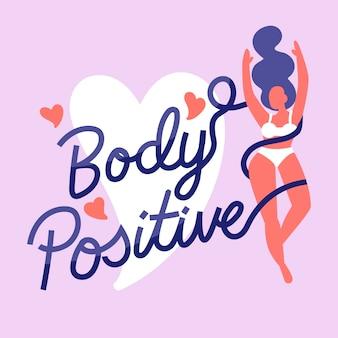 Letras positivas de cuerpo colorido