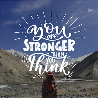 Letras positivas hermosas