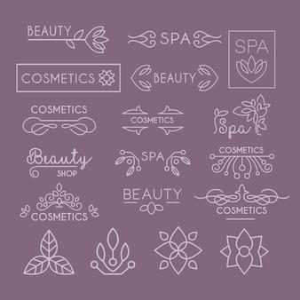 Letras y rizos de la industria de la belleza