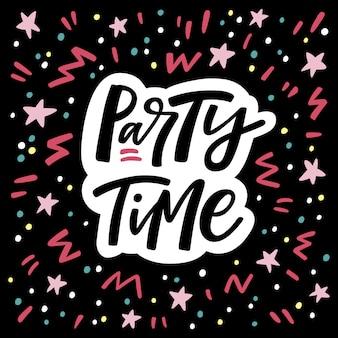Letras de tiempo de fiesta
