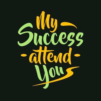 Letras tipografía cartel motivacional citas