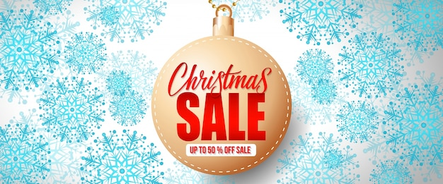 Letras de venta de navidad en adorno
