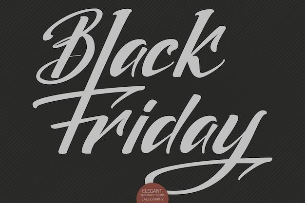 Letras de venta de viernes negro de vector