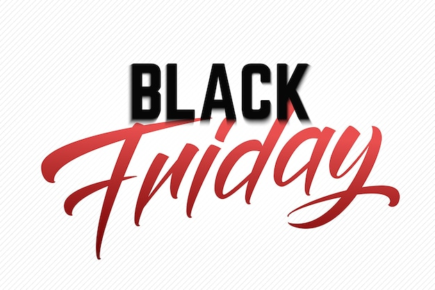 Letras de venta de viernes negro