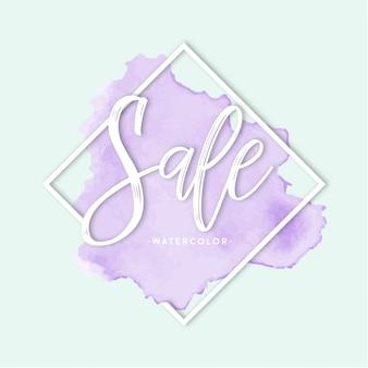 Letras de venta violeta
