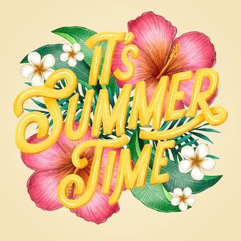 Letras de verano dibujadas a mano