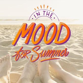 Letras de verano con foto
