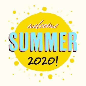 Letras de verano con sol