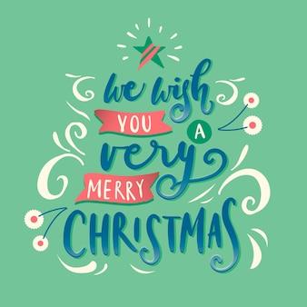 Letras verdes de navidad
