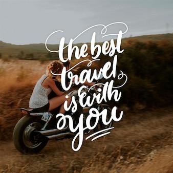 Letras de viaje con foto
