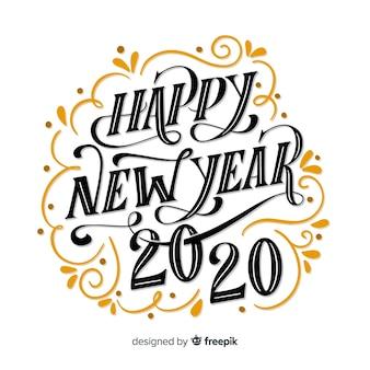 Letras vintage feliz año nuevo