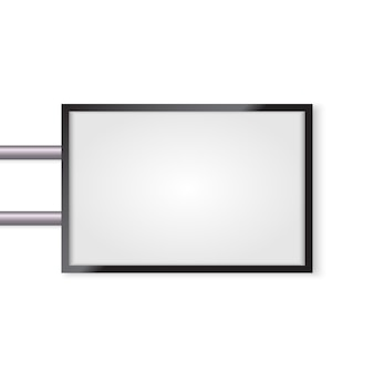 Letrero 3d simulado hasta aislado. lightbox iluminada con espacio vacío para diseño.