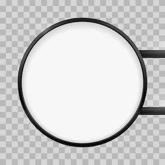 Letrero de caja de luz de señalización redonda. maqueta de caja de señal de caja de luz circular