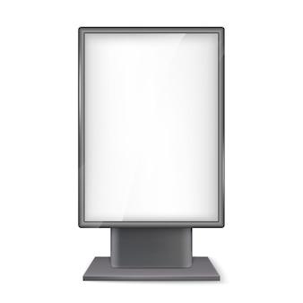 Letrero de calle para publicidad digital o impresa