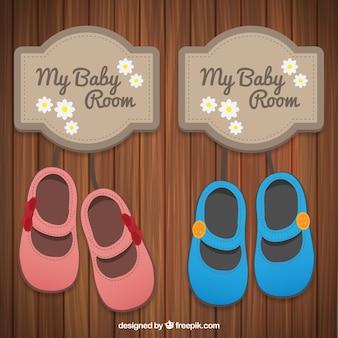 Letrero de habitación de bebé