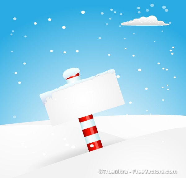 Letrero de helada en el polo norte