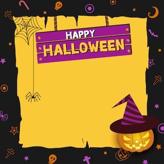 Letrero de madera de halloween