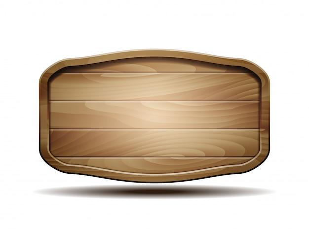 Letrero de madera realista