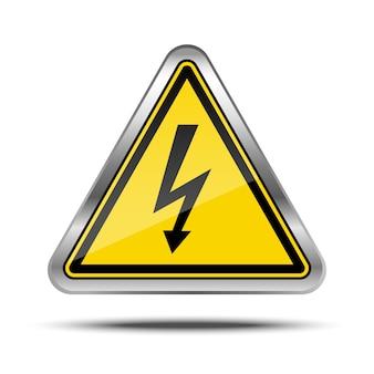 Letrero de metal de corte de energía