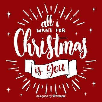Letrero de navidad adorable dibujado a mano