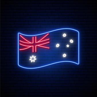 Letrero de neón de la bandera de australia.