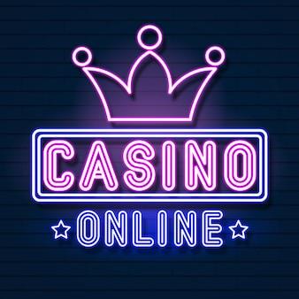 Letrero de neón del casino