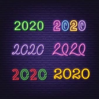 Letrero de neón de la colección 2020