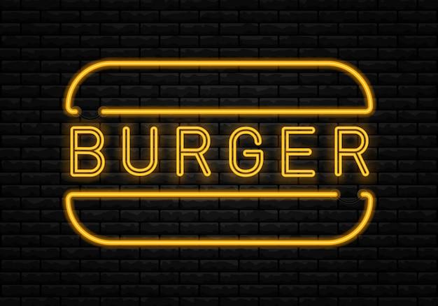 Letrero de neón de comida rápida