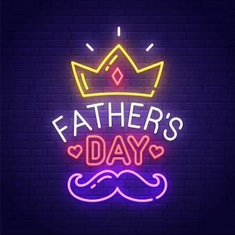 Letrero de neón del día del padre