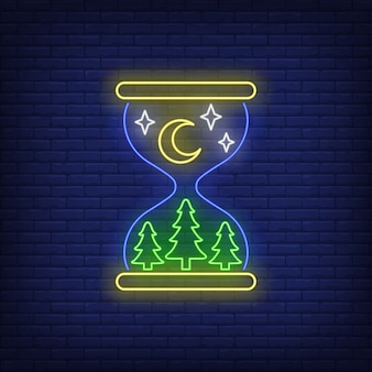 Letrero de neón nocturno