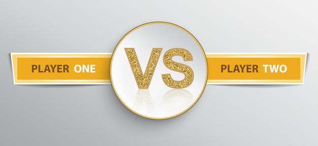 Letrero para plantilla duelo vs