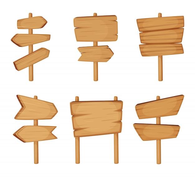 Letrero con textura de madera.