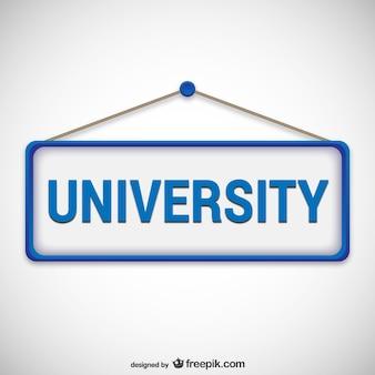 Letrero de universidad