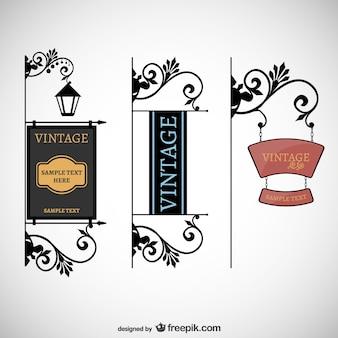 Letreros estilo vintage