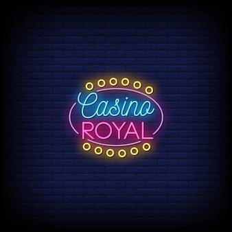 Letreros de neón de casino royal