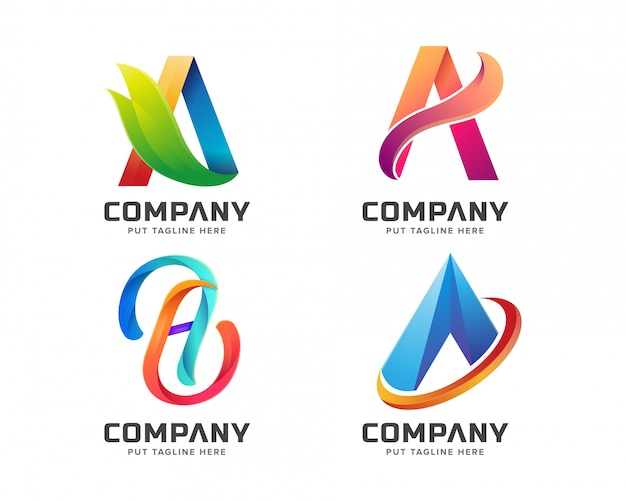 Letter initial a logo template para empresa