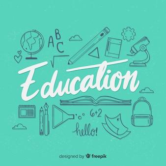 Lettering de educación