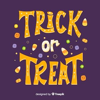 Lettering de halloween de trick or treat