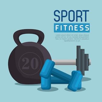 Levantamiento de pesas pesas deporte fitness