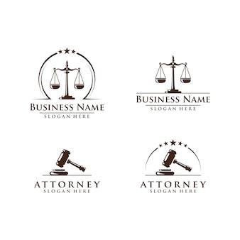 Ley y abogado logo