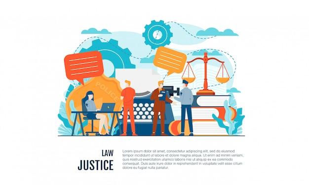 Ley y legal ilustración plana