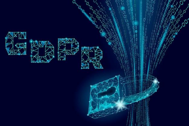 Ley de protección de datos de privacidad gdpr. regulación de datos información sensible escudo de seguridad unión europea