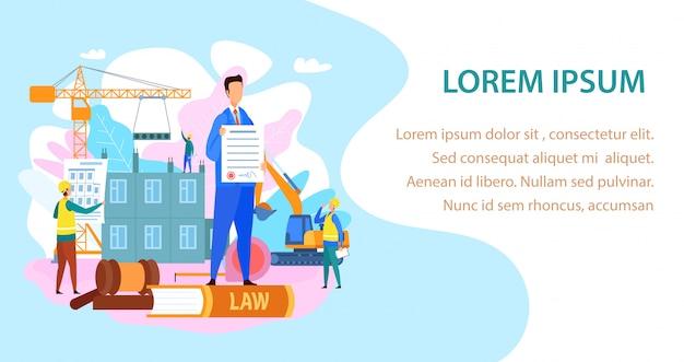 Ley de trabajo y construcción página de desembarco
