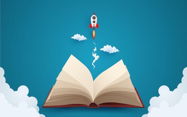Leyendo el libro con imaginación