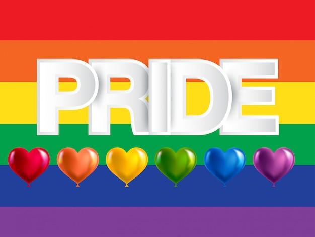 Lgbt, bandera del arco iris del orgullo gay y lésbico.