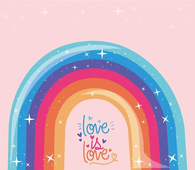 Lgtbi rainbow and love is love diseño de prueba